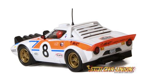 Lancia Stratos Slot Car Ninco 50631 Lancia Stratos Bic Slot Car Union