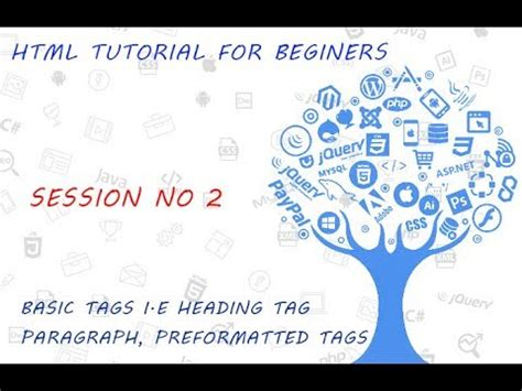 html tutorial html tags html tutorial for beginners 02 basic html tags heading