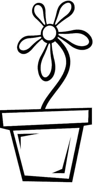 coloring pictures of flowers in a pot coloring pages of flower pots clipart best