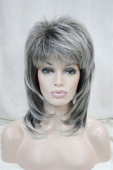 medium gray with black spike shaggy hairstyles asian medium bob layered short hairstyle 2013