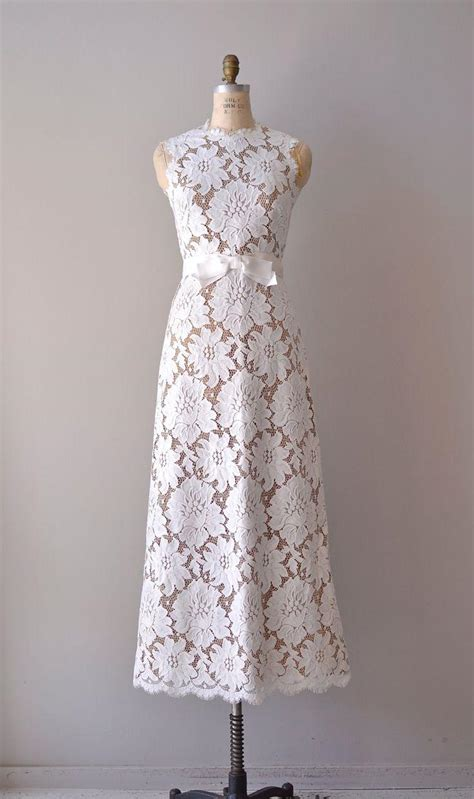 Vintage 1960 S Wedding Dresses by Vintage Lace Wedding Dress 1960s Wedding Gown S
