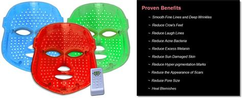 red light therapy skin benefits new pro nu led photon mask skin rejuvenation led