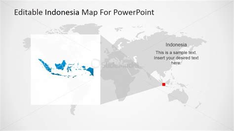 design powerpoint indonesia indonesia located in the world map slidemodel