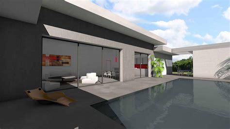 House Plan Design Software by Maison D Architecte Contemporaine 224 Toit Terrasse 224 Toulouse