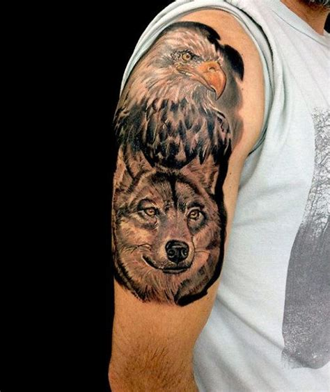101 Best Eagle Tattoos Designs With Meanings Eagle And Wolf Tattoos