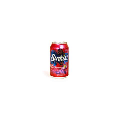 Sunkist Can Pulpy Jus Pack Of 6 sunkist strawberry can 355 ml usa foods