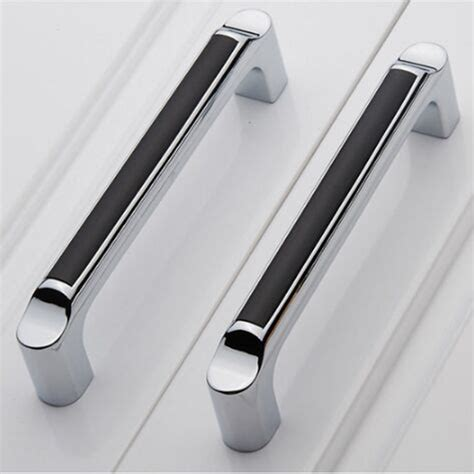 white kitchen cabinet handles 128mm silver white kitchen cabinet handle chrome dresser