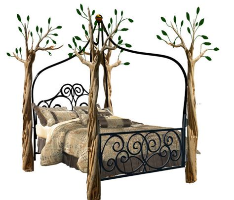 tree canopy bed tree bed queensize from jrf0726 on etsy home decor