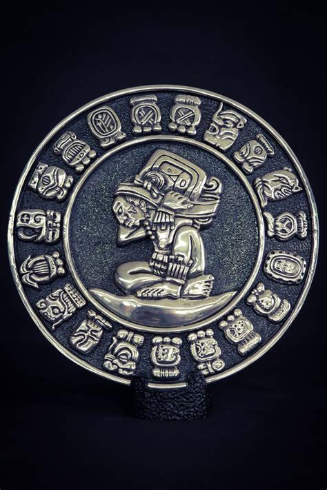 Calendario O Azteca Escultura Calendario O Azteca Mediano Plata 999