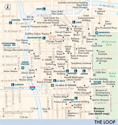 Map Of West Loop Chicago by Map Of The Loop Including West Loop And South Loop The
