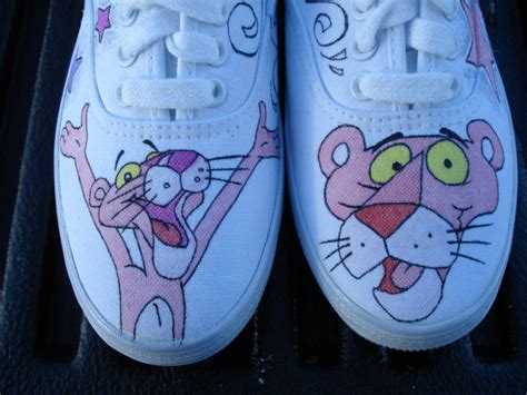 pink panther style custom designed shoes inkwear99