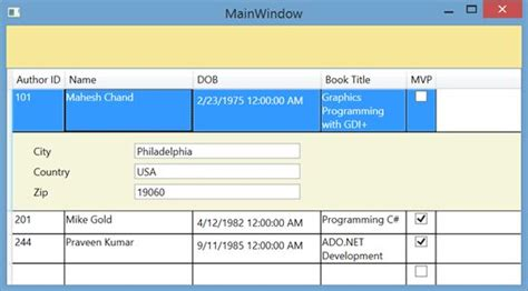wpf datagrid template mastering wpf datagrid in a day hour 7 data template