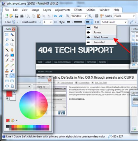 drawing arrows in paint net the smart way 404 tech support