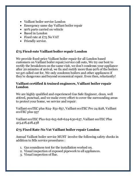 Pch London - pch boiler repair vaillant boiler repair london