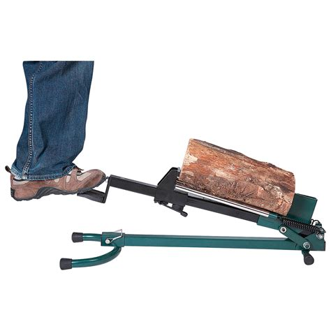 quality crafts quality craft foot operated log splitter 1 5 ton cap lsf