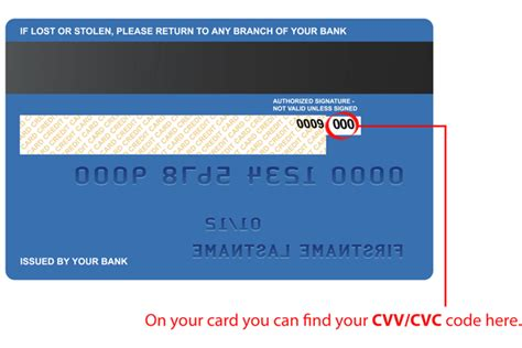Where Is The Cvv Code On A Visa Gift Card - what is cvv cvc code and where can i find it on my card