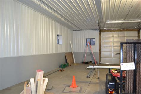 Best Paint For Interior by Interior Corrugated Metal Garage Walls Installing