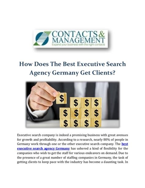 Search Agency How Does The Best Executive Search Agency Germany Get Clients