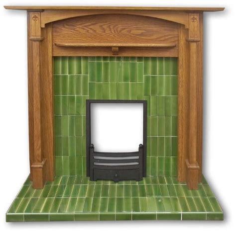 Voysey tiled fireplace insert   Twentieth Century Fireplaces