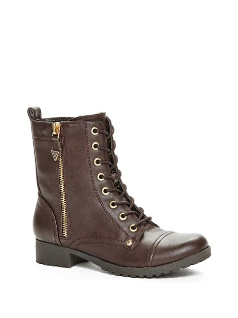 guess s bethie lace up boots ebay