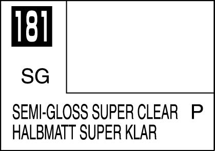 Mr Color 181 Semi Gloss Clear mr color paint semi gloss clear 10ml c181 gsi c 181 gunze sangyo mr hobby