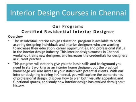 interior design courses interior design courses in chennai guindy tambaram