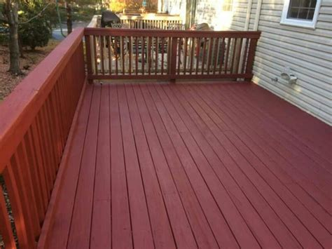 coats  solid stain color red  deckscapes