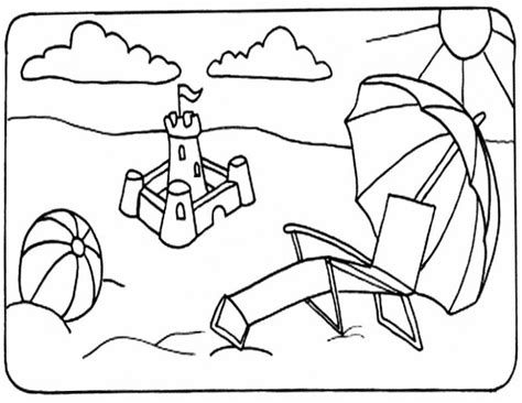 Free Summer Coloring Pages For Kids Coloring Home Summer Colouring Pages To Print