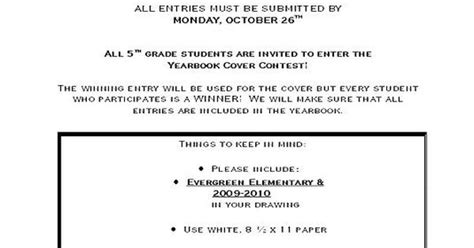 yearbook layout guidelines yearbook cover contest guidelines yearbook pinterest