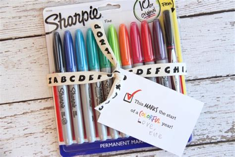 pencil pen gift tags printable back to school back to school sharpie gift idea and free