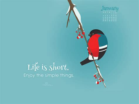 desktop wallpaper january 2015 january 2015 life is short desktop calendar free