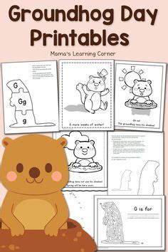 groundhog day yahoo groundhog day crafts print your groundhog template at