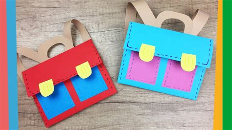 craft for at school back to school craft easy diy paper school backpack for