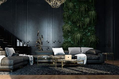 Green And Black Interior Design by Am 233 Nagement Int 233 Rieur En Noir D Un Appartement 224