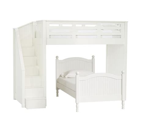 pottery barn catalina bed catalina stair loft bed lower bed set pottery barn kids