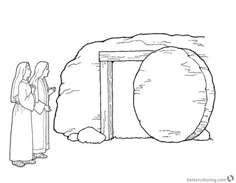 empty of jesus printable coloring pages empty best