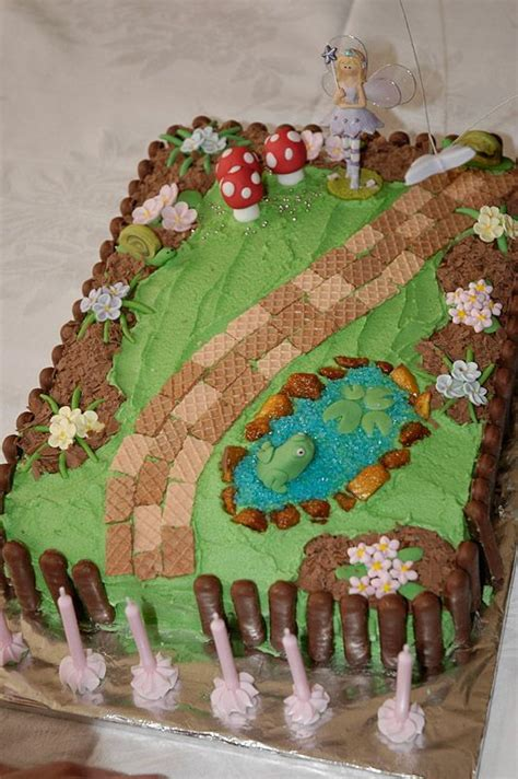 Fairy Garden Cake Fairies Garden And Garden Cakes On Garden Birthday Cakes Ideas