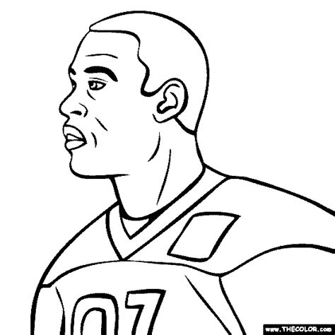 Calvin Johnson Free Coloring Pages Calvin Coloring Page