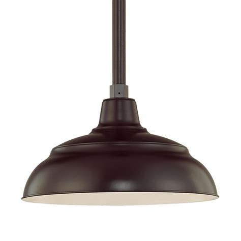 Outdoor Warehouse Lighting Millennium Lighting Architectural Bronze R Series 1 Light Outdoor Pendant With Sky