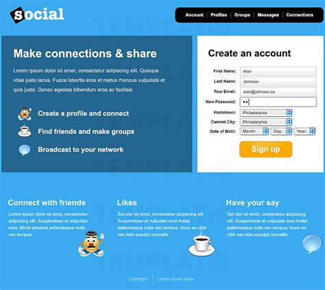 13 Best Photos Of Social Media Website Designs Social Media Website Design Social Media Social Media Site Template