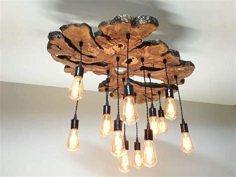 handmade extra large  edge olive wood chandelier