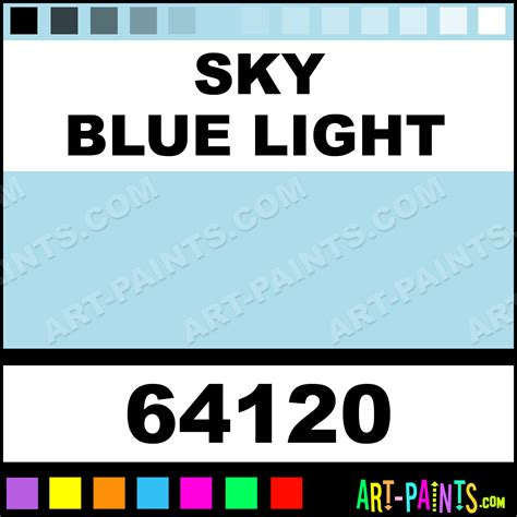 sky blue light standard series acrylic paints 64120 sky blue light paint sky blue light