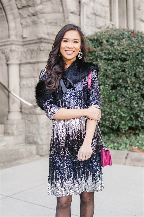 holiday glam sequin dress skirt  parties color