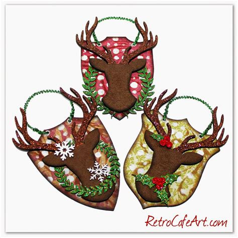 christmas deer phillips retro caf 233 gallery clear keepsake cases and more