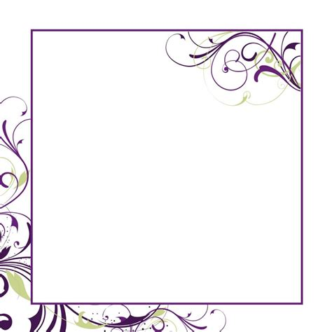 Card Design Ideas White Invitation Card Template Flower Fantastic Simple Framed Inside Simple Invitation Card Template