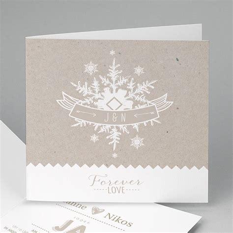 Einladungskarten Hochzeit Winter by Hochzeitseinladungen Modern Winter Carteland De