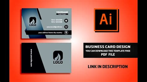 business card brand illustrator template free adobe illustrator templates choice image