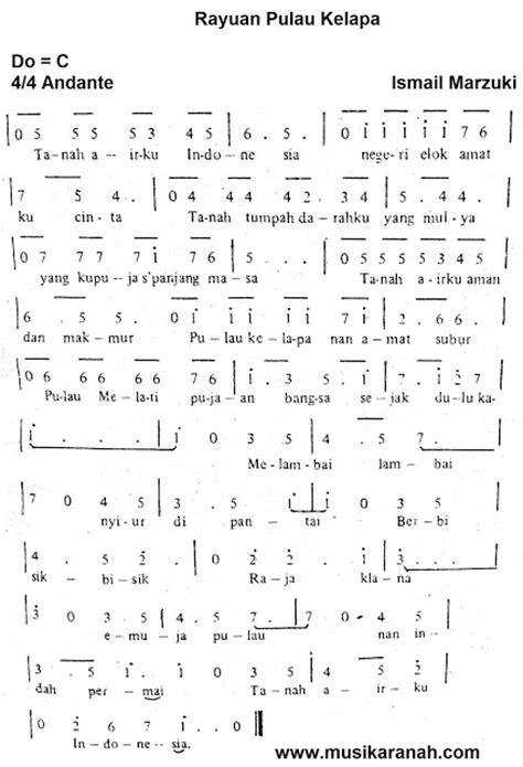 tutorial piano lagu bunda chord lagu tanah airku all sizes partitur bunda