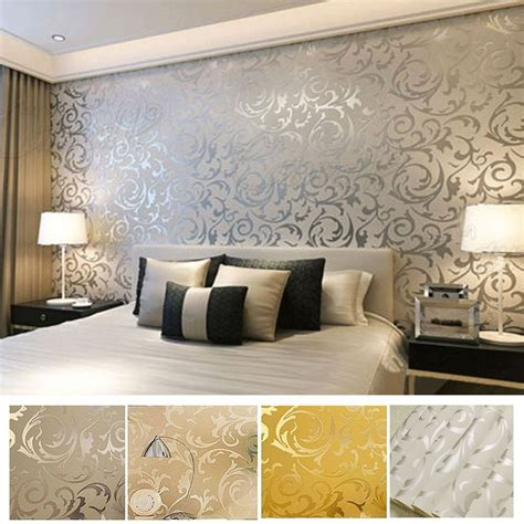 damask bedroom ideas 25 best ideas about silver wallpaper on room