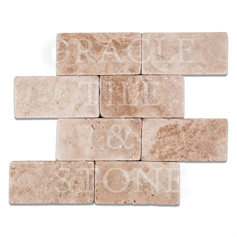 andean vanilla travertine 3 x 6 rectangular field tile oracle tile stone